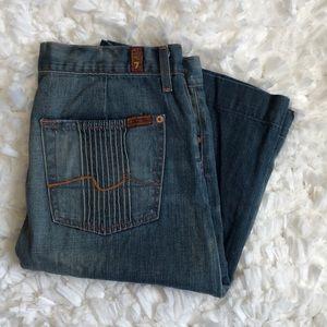 7 for all mankind 100% cotton denim skirt